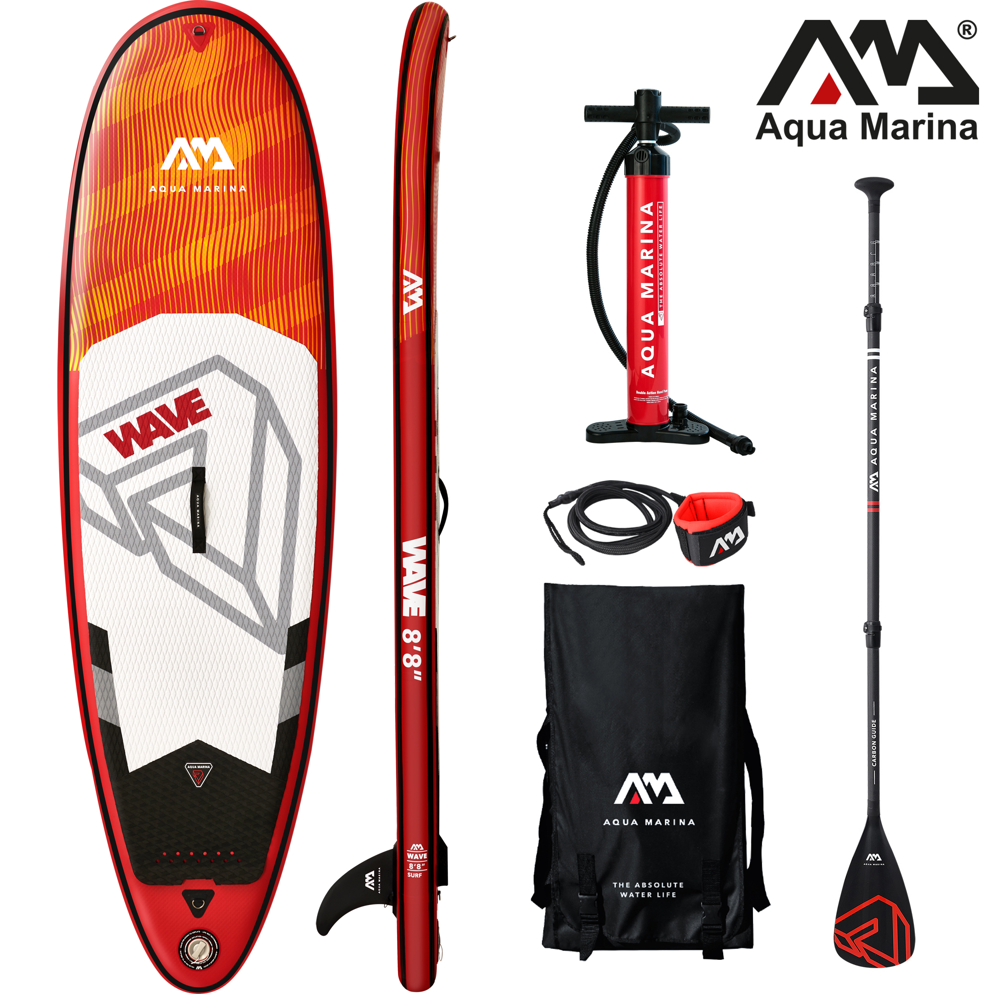 Wave 8.8 opblaasbare surf sup board