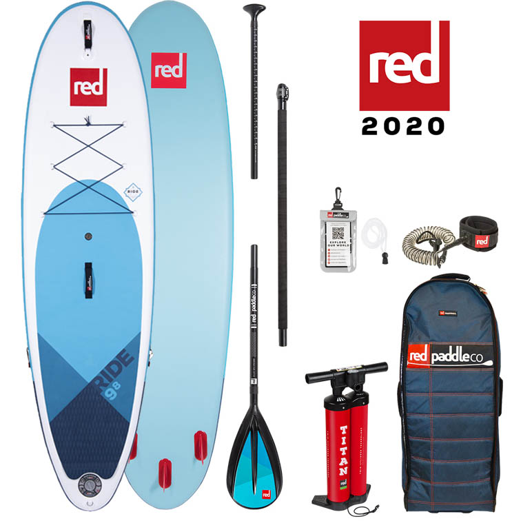 red paddle Ride 9.8 x 31 opblaasbare sup board voordeelpakket