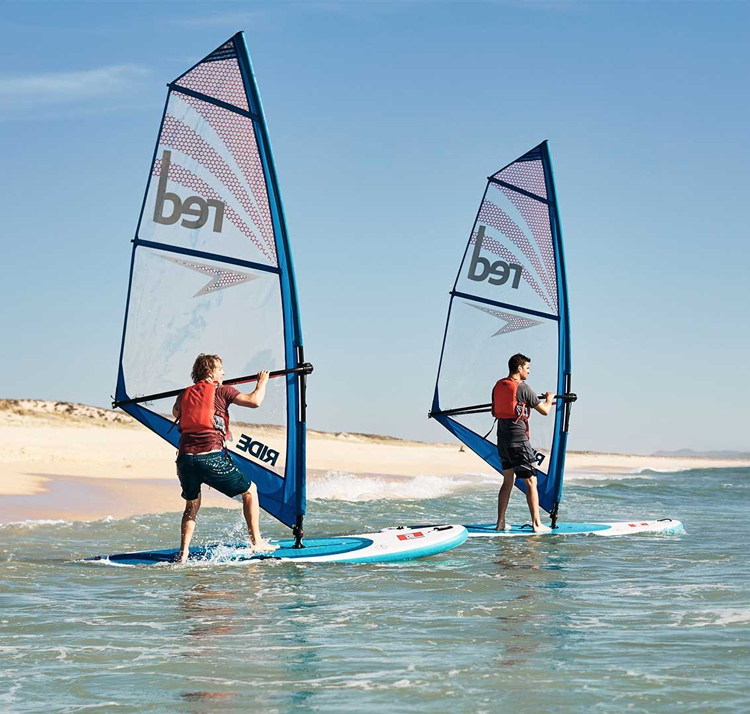 red paddle Ride 10.7 x 33 Windsurf opblaasbare sup board voordeelpakket