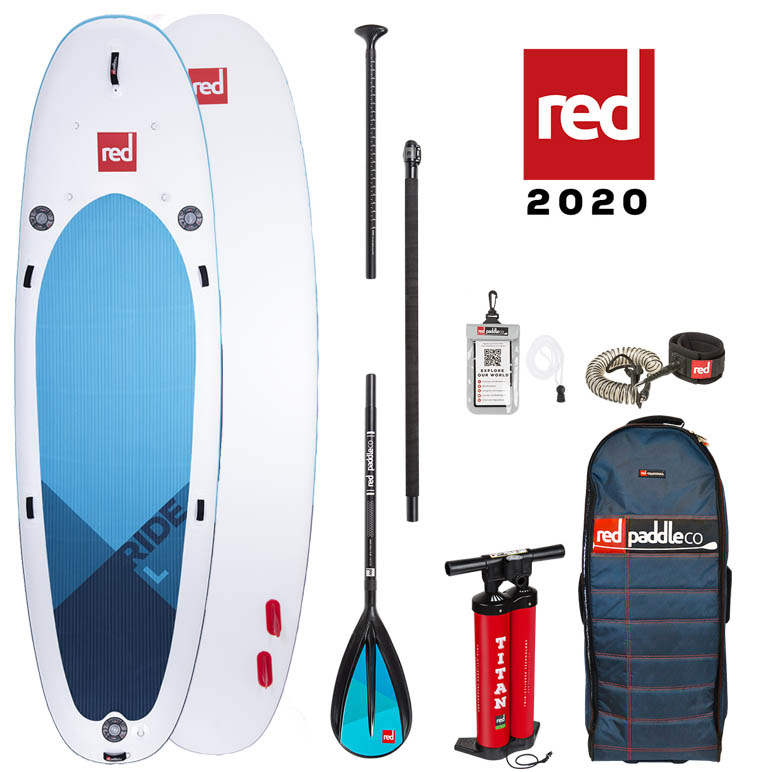 red paddle Ride L 14. x 48 opblaasbare sup board voordeelpakket