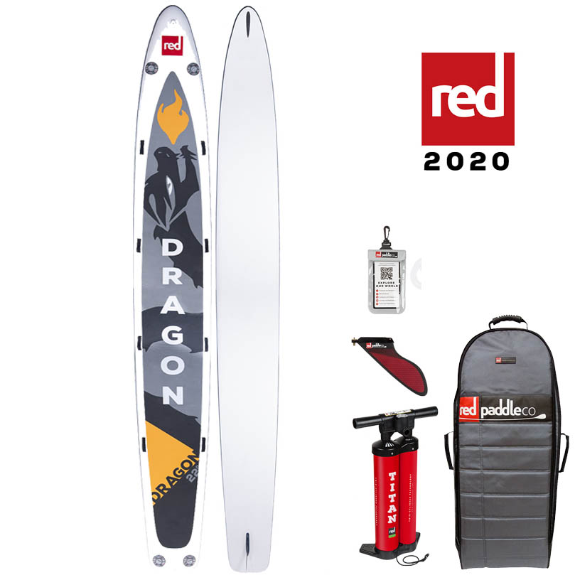 red paddle Dragon 22. x 34 opblaasbare sup board voordeelpakket
