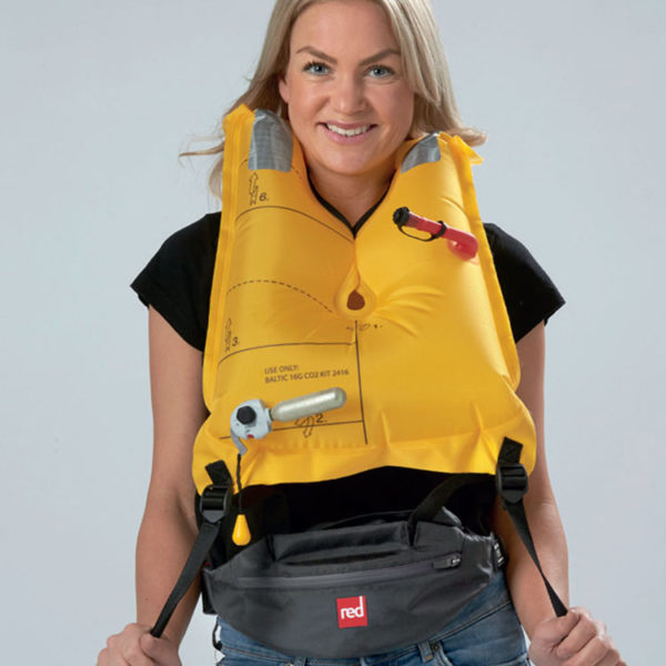 red paddle Airbelt   PFD  grey